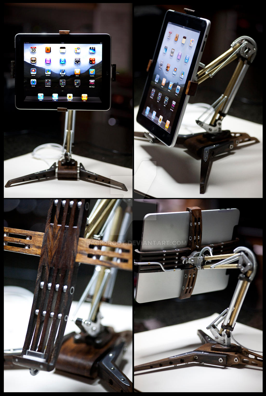I-Poise Steampunk iPad Stand by back2root