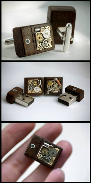Mechanical Memory Cufflinks