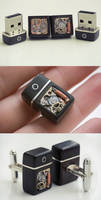 32GB USB Cufflinks by back2root