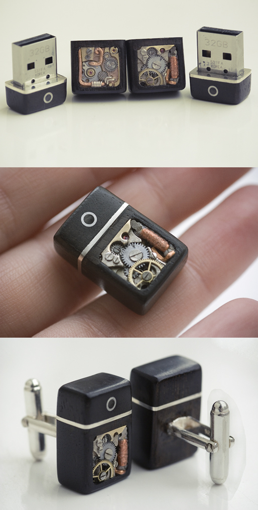 32GB USB Cufflinks by back2root