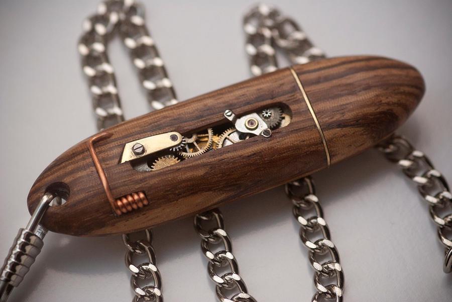 Mechanical USB Key - Zebrano by back2root