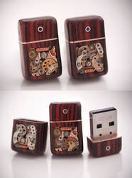 32GB USB Cufflinks - Cocobolo