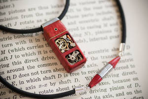 32GB USB Pendant - Pink Ivory by back2root