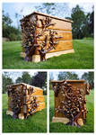 3 Drawer, hand carved Ivy chest...