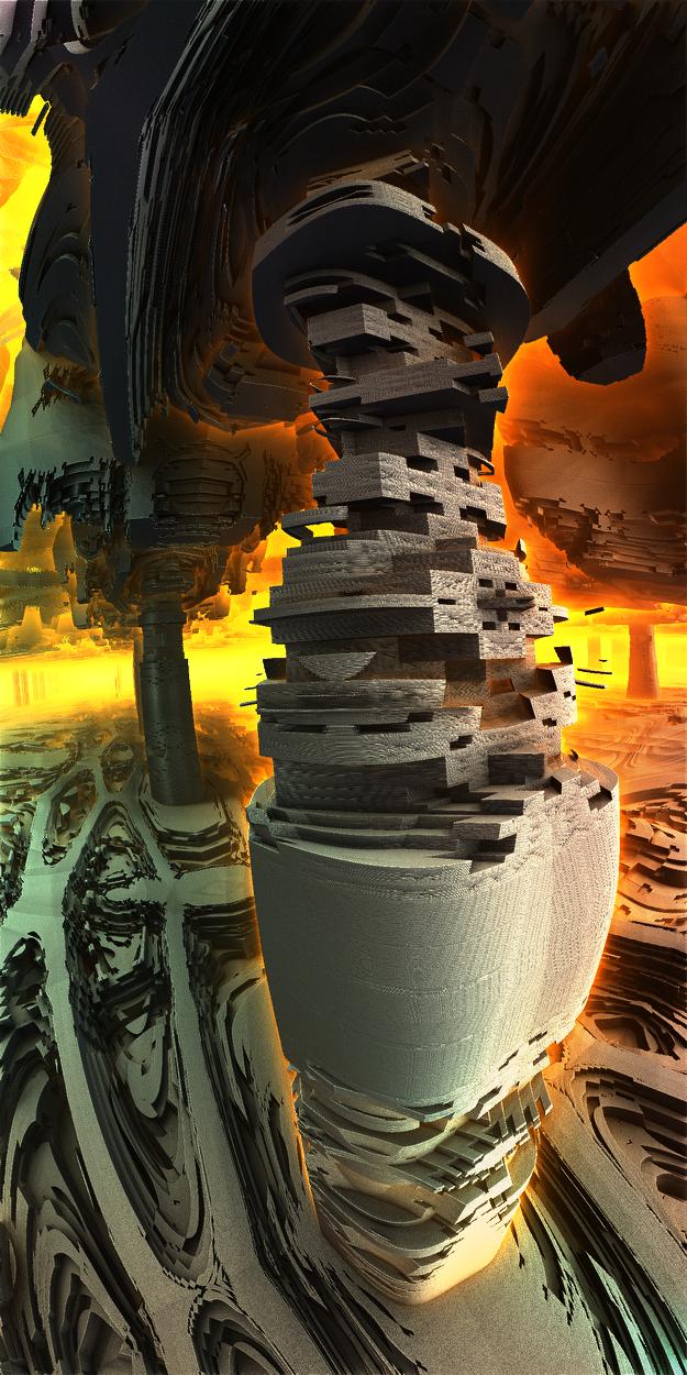 Ancient mechanical columns by KPEKEP