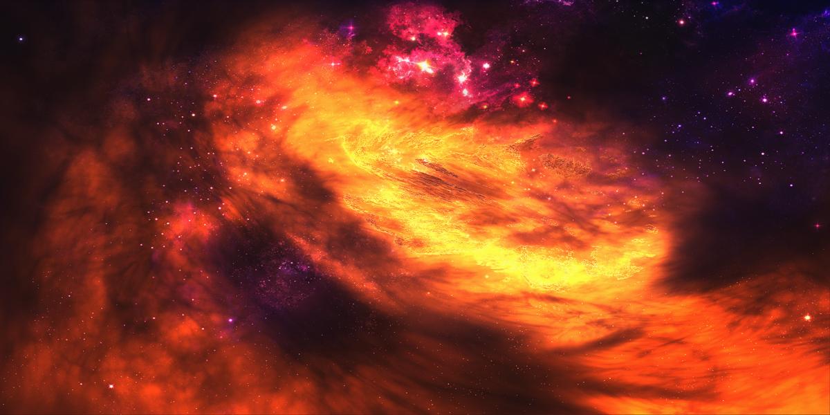Fiery nebula by KPEKEP