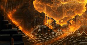 Fiery city