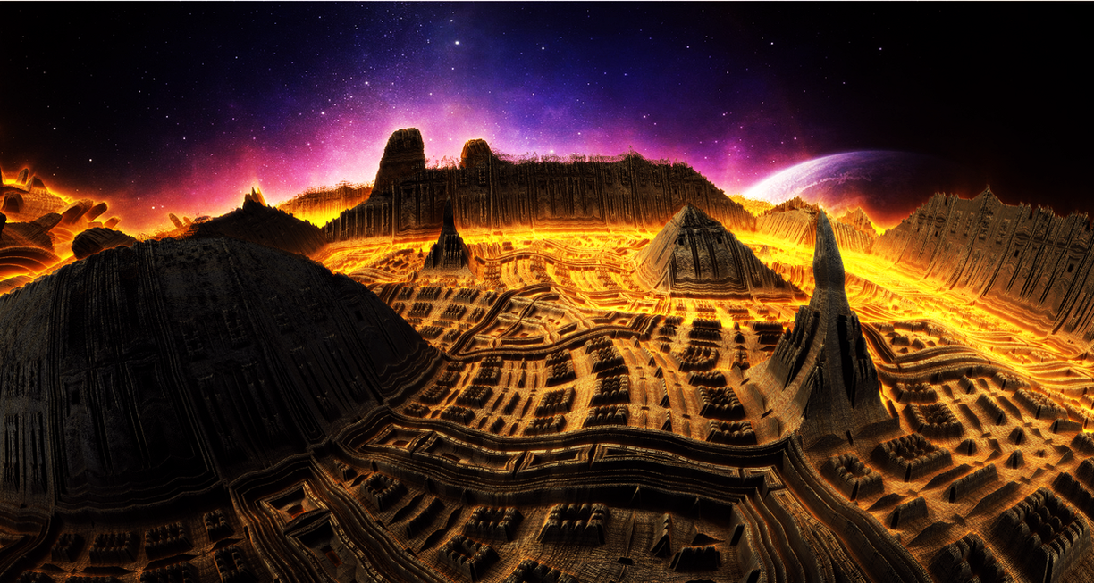 Pyramids in space by KPEKEP