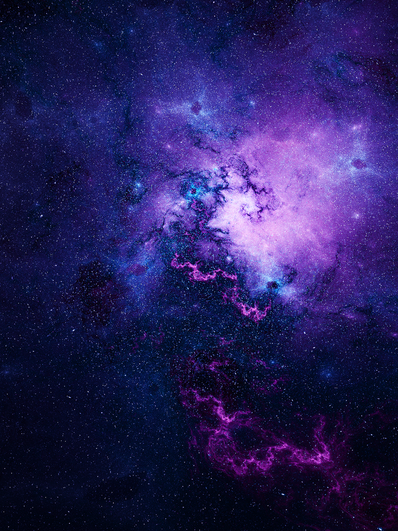 purple space by kpekep on deviantart