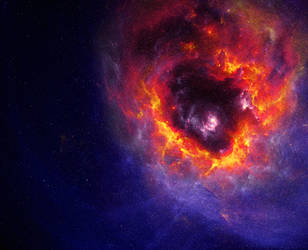 Warm in space by KPEKEP