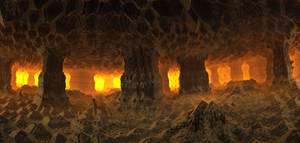 Inside an ancient cave