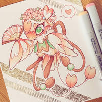 Peach Blossom MYO bird folk (approved) by pastelstormyprince