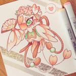 Peach Blossom MYO bird folk (approved)