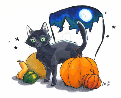 Haloweencat small by fleetfoot