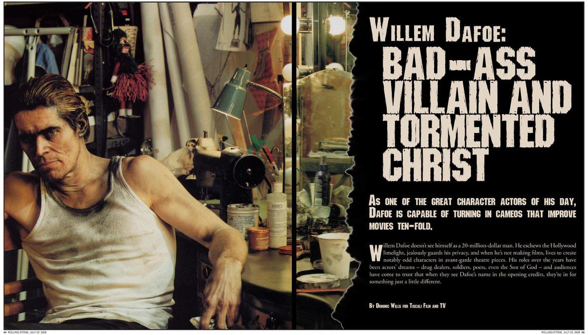 Rolling Stone: Willem Dafoe by RawrArt