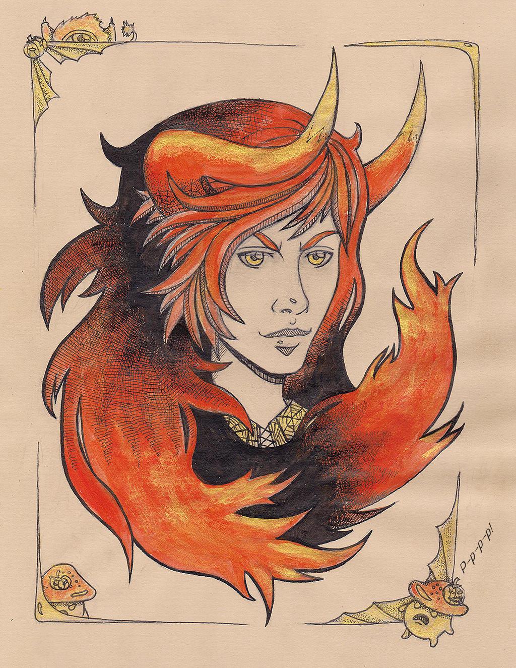 Dragon Blaze [Greysoul halloween version] by AndrielTaro