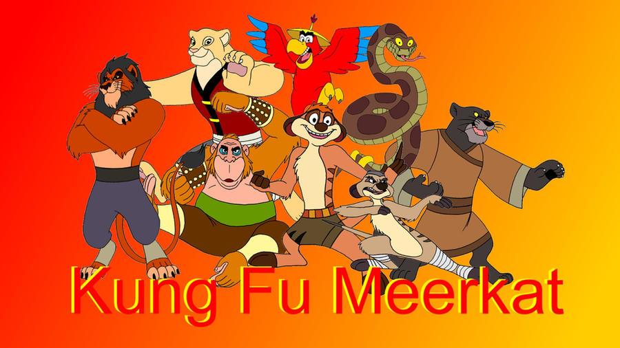 Kung Fu Meerkat Poster by KingLeoLionheart