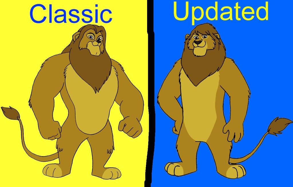Original vs Revised - Leo Lionheart by LionheartCaptain