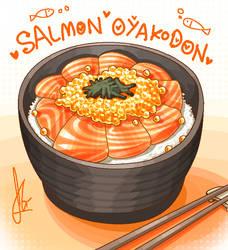 Salmon Oyakodon by Duckpasta
