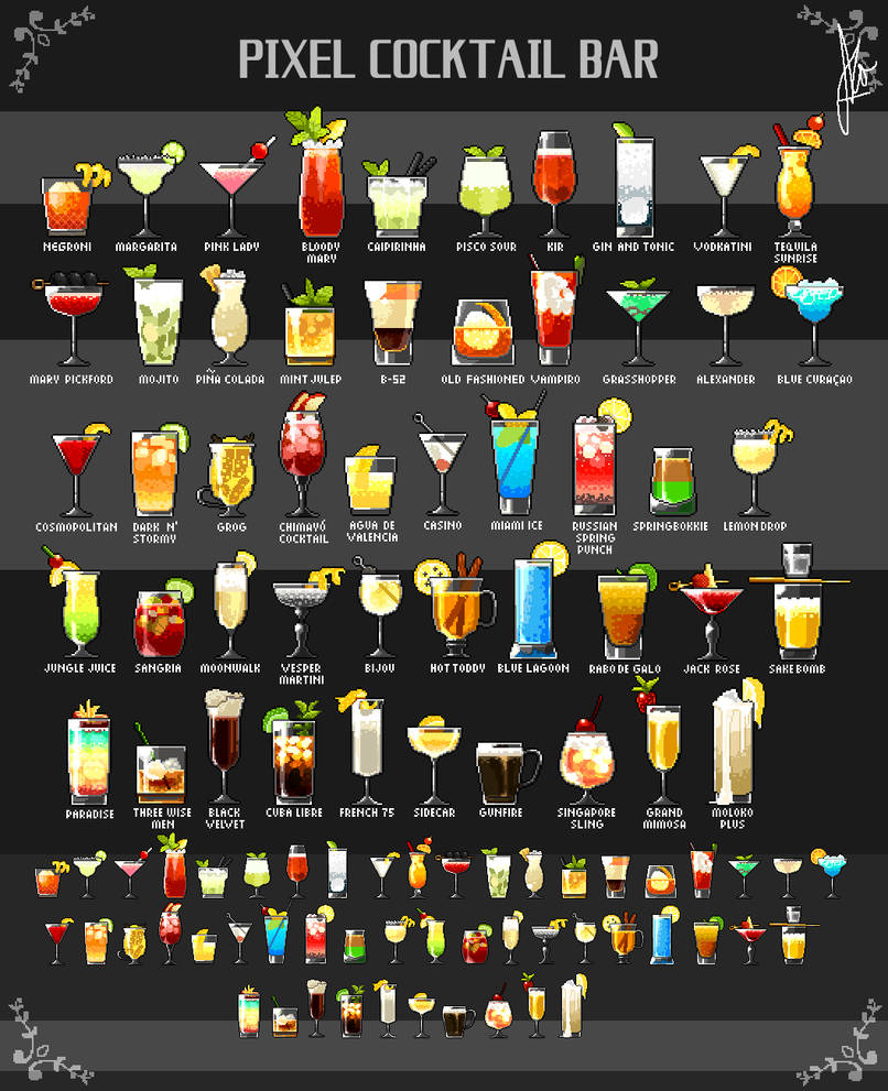 Pixel Cocktails (Part 1) by Duckpasta