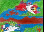 Chibi Latias and Latios Waters Edge Universe by WarNightZollo
