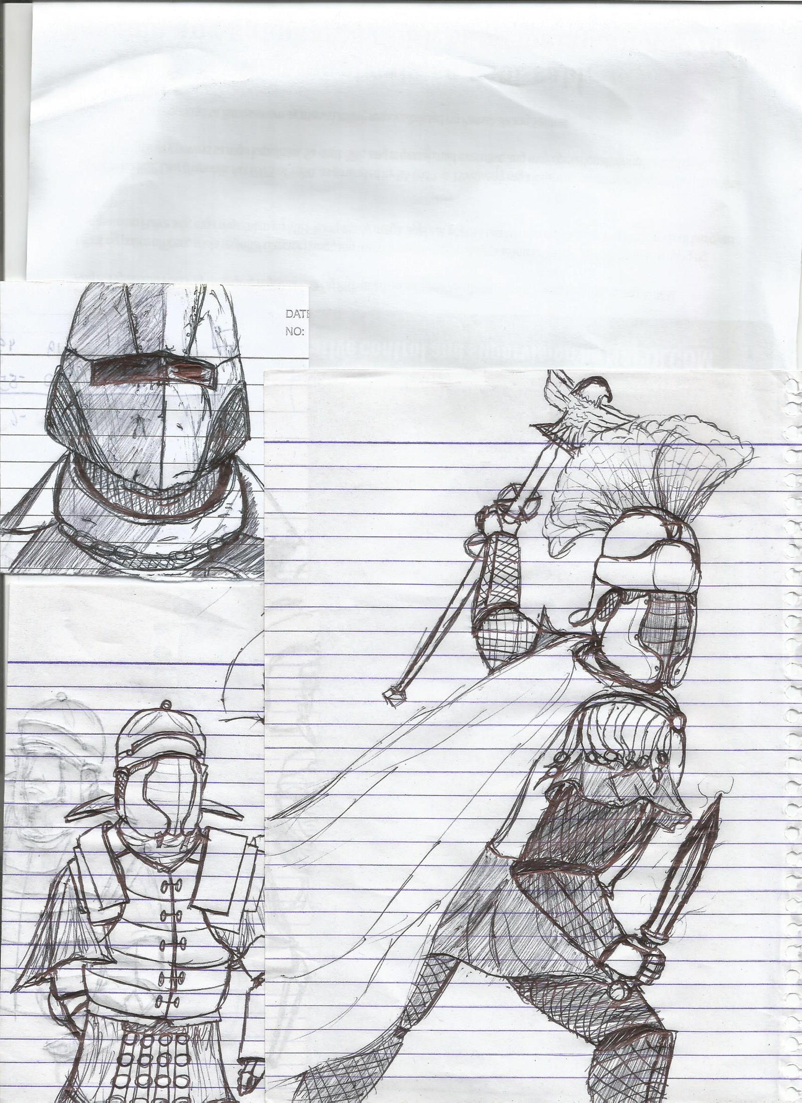 Armor Sketches by Delvius