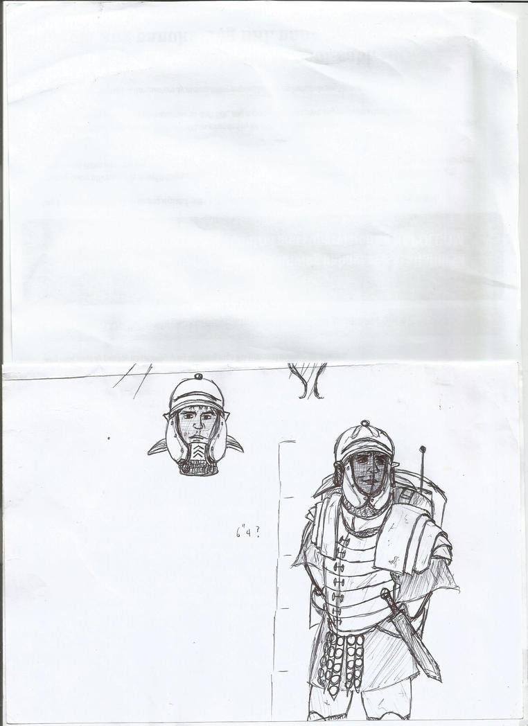 Future Roman Soldier by Delvius