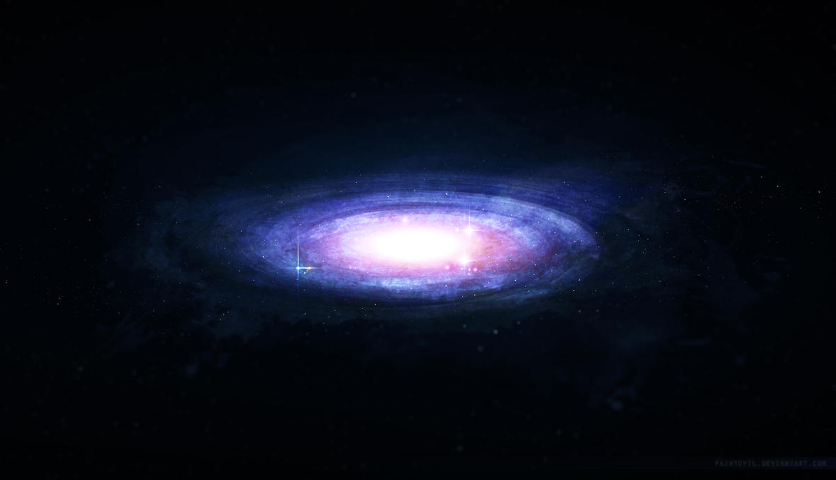 Splatter Galaxy by paintevil