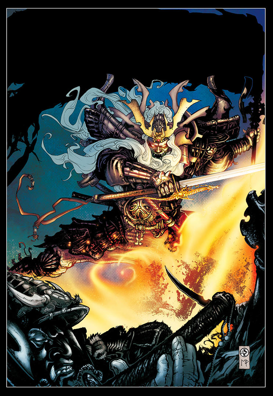 Samurai cover with colors!!!!!!! by LeoColapietroArt