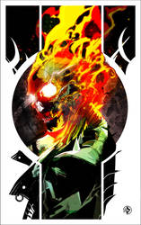 Ghost Rider commission!!!! by LeoColapietroArt