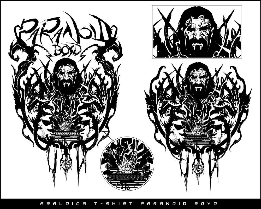 Araldic T-shirt design - Paranoid Boyd by LeoColapietroArt