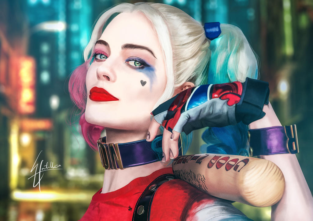 Margot Robbie As Harley Quinn Wallpaper: Margot Robbie / Harley Quinn By Eddhortillosa On DeviantArt