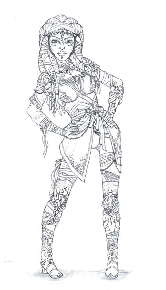 Redraw#2: Ashla (oc) by StarKite1