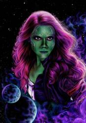 Gamora (Inverted) by StarKite1