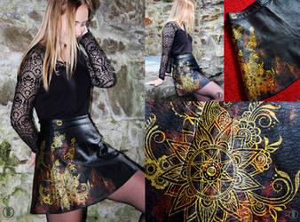 Henna Skirt Gold/Red