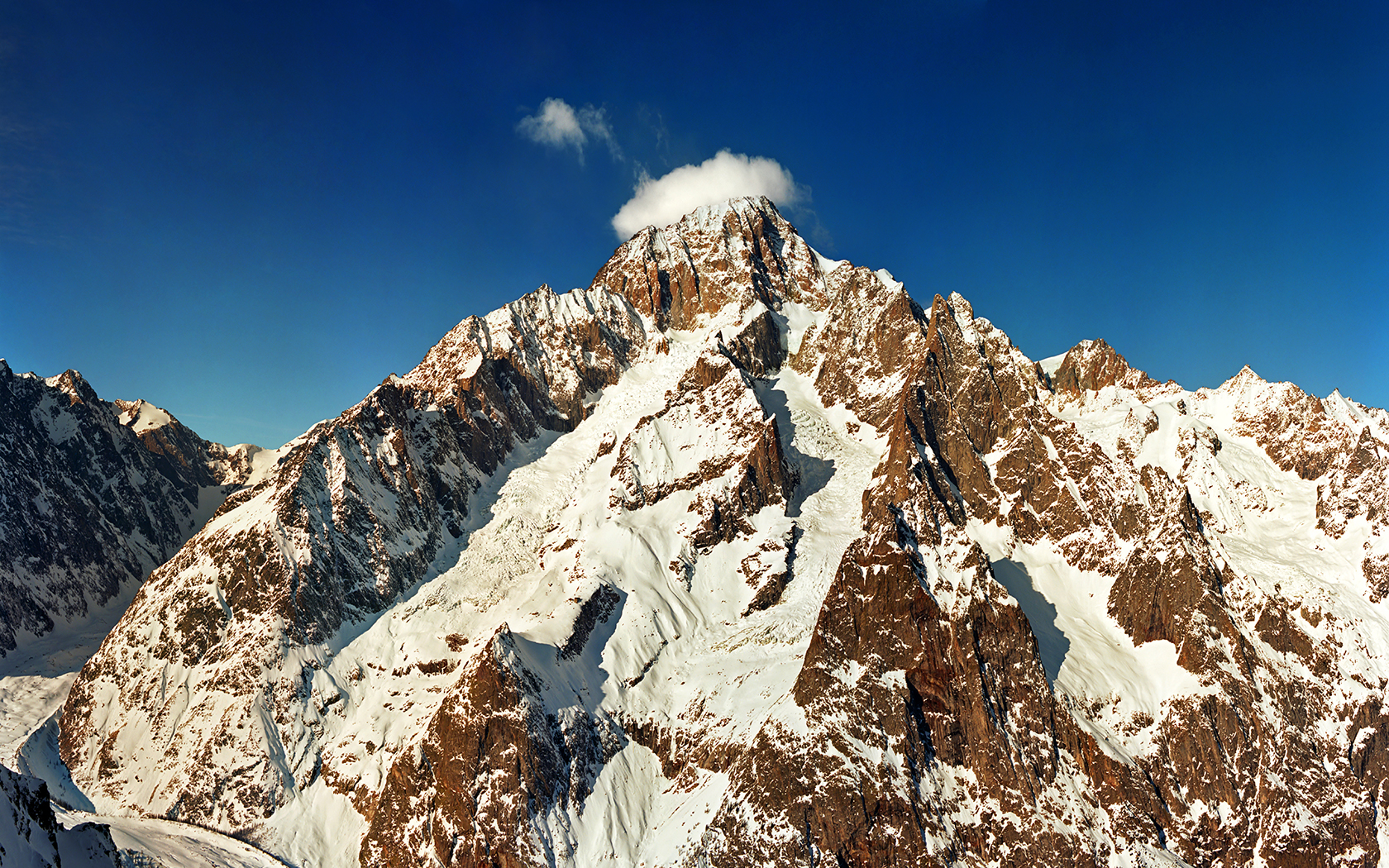 Mont Blanc range - view from Italy by jup3nep