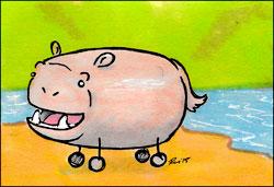 Marshmallow Hippo by Twitchy-Kitty-Studio
