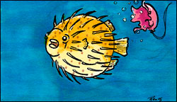Marshmallow Puffer Fish by Twitchy-Kitty-Studio