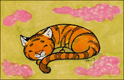 Sleeping Marshmallow Tiger by Twitchy-Kitty-Studio