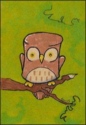 Marshmallow Owl by Twitchy-Kitty-Studio