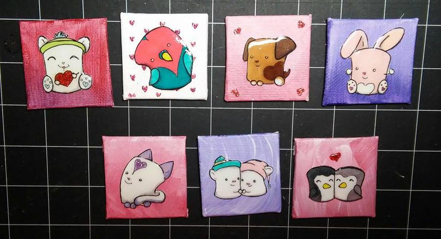 Mini Valentine Mallows, 2016 by Twitchy-Kitty-Studio