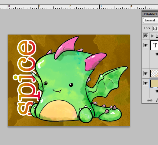 WIP: Spice, Dragon Mallow Badge by Twitchy-Kitty-Studio