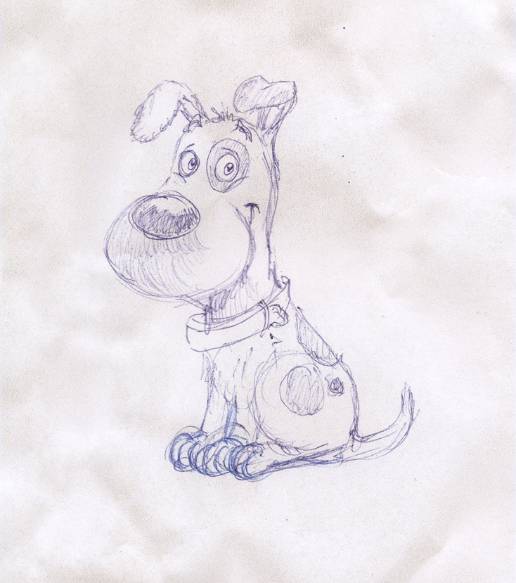 Chien-01-sketch by StephaneMathieu