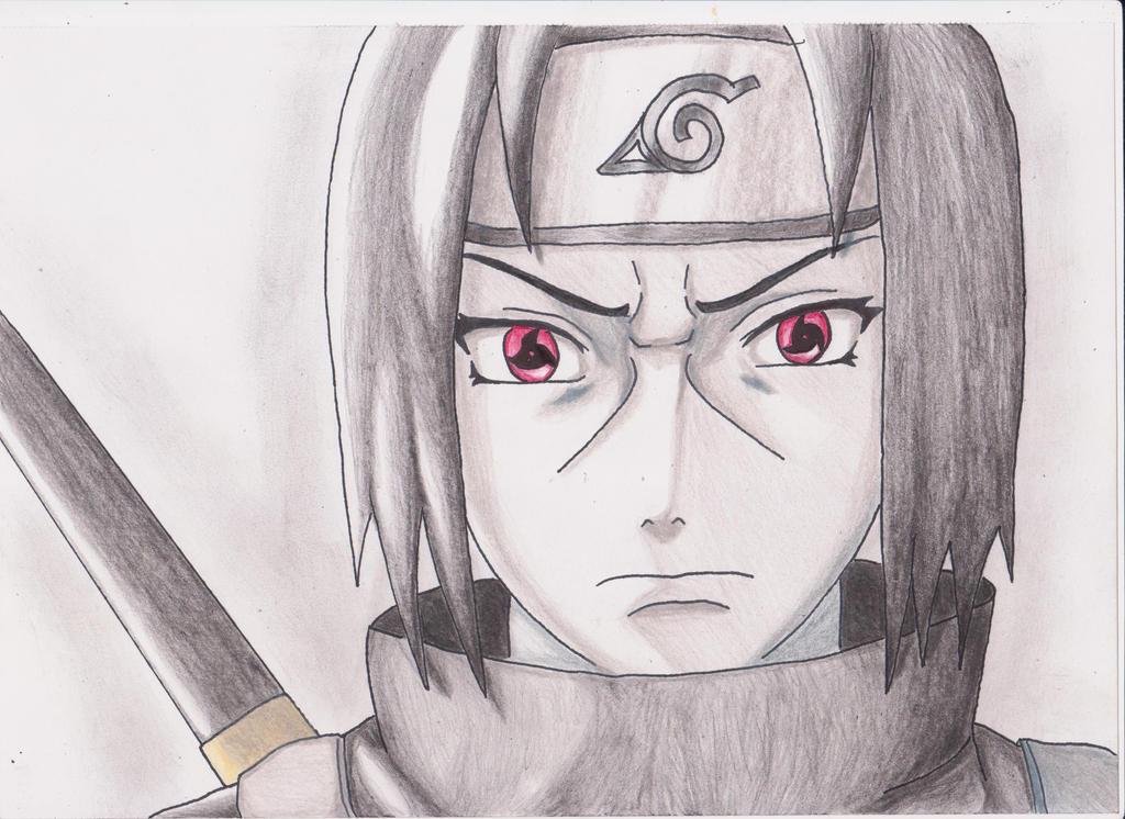 Sasuke Uchiha with Mangekyou Sharingan by MertOzel on ... |Itachi Mangekyou Sharingan Drawing