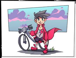Manuel and his Bike by malatrova1