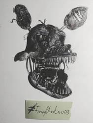Nightmare Foxy Art Classroom sketches by FnafArts003