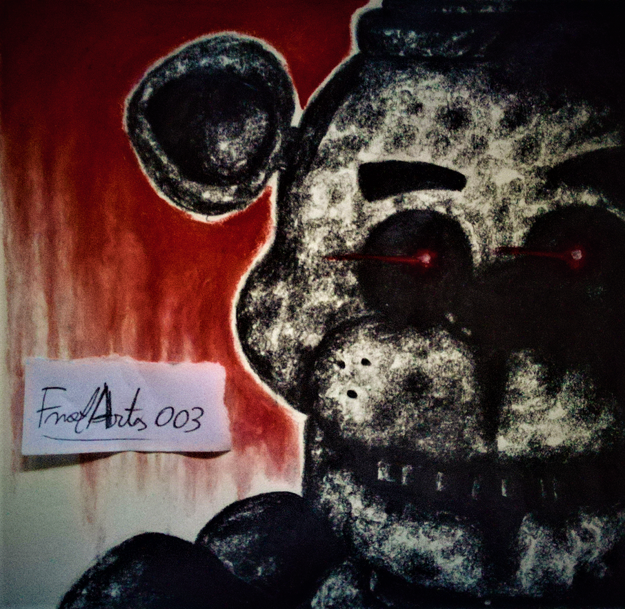 (FNaF) The Silver Eyes book cover drawing by FnafArts003