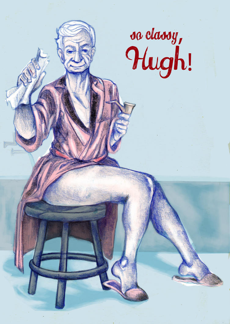 Hugh Hefner by Ari-Bo