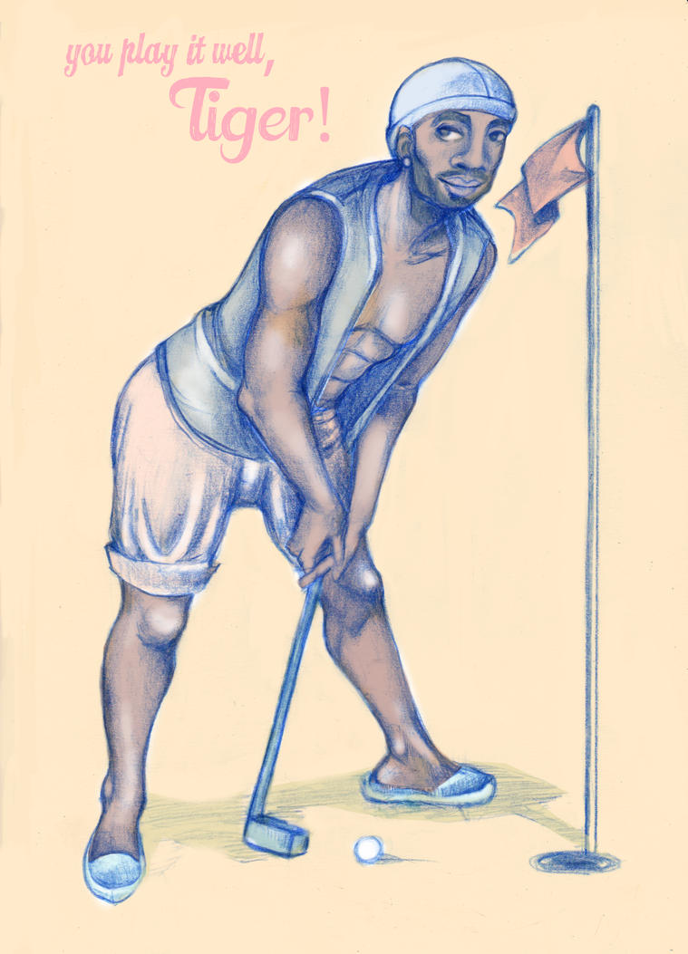 Tiger Woods by Ari-Bo
