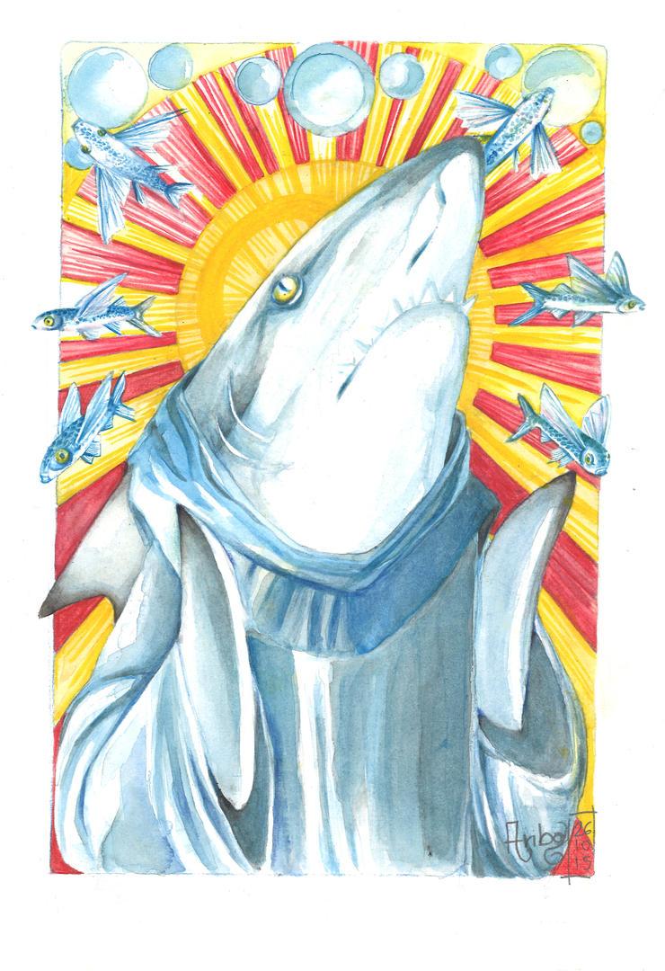 God Shark by Ari-Bo